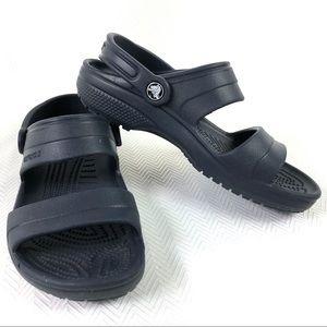 CROCS Navy Classic Sandal Women's Size 8
